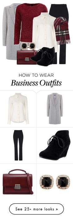 """WORKING MONDAY"" by ladyelen on Polyvore featuring Gucci, Chloé, Yves Saint Laurent, Burberry and Jona"