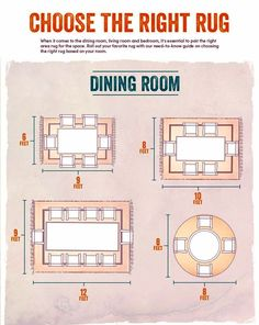 1000 images about decorating tips on pinterest area for Dining room rug size