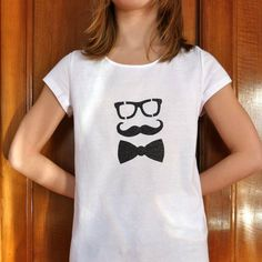 "Made for her ! avec le pochoir ""Lunettes & moustache"" de ""Made for You"""