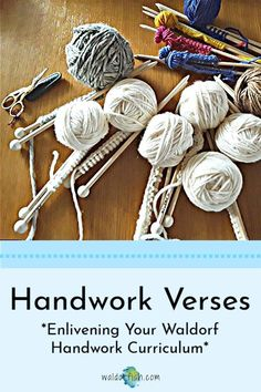 How can you enliven your Waldorf handwork curriculum? Use verses! We will help you get started; check out our blog post now! Handwork| Handwork curriculum| Waldorf Education | curriculum | Waldorf pedagogy | Waldorf homeschool planning | waldorfish | curriculum planning Waldorf Curriculum, Waldorf Education, Curriculum Planning, Rudolf Steiner, Homeschooling, Verses, How To Plan, Check, Blog