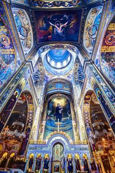 """Volodymyr's Cathedral in Kiev, Ukraine? It looks different in other pictures. """"Ukraine is is the mother cathedral of the Ukrainian Orthodox Church, Kiev Patriarchate. Church Architecture, Beautiful Architecture, Beautiful Buildings, Religious Architecture, Urban Architecture, Art Du Monde, Cathedral Church, Chapelle, Place Of Worship"""