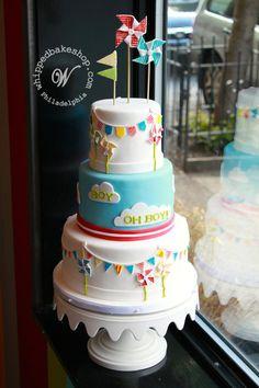 Pinwheel Baby Shower Cake by Whipped Bakeshop