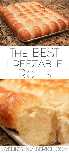 This Homemade Roll recipe is my absolute favorite, not only because it is wonderful to eat straight out of the oven, but because it also freezes amazingly well.  This allows me to have homemade rolls any evening I want, without the time or mess involved and it is now the only rolls my kids will eat. #LiveLikeYouAreRich