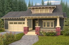Bungalow Style House Plan - 3 Beds 2.00 Baths 1792 Sq/Ft Plan #434-7