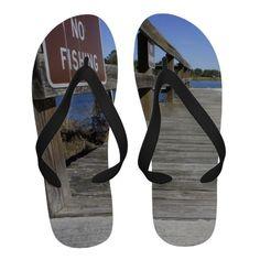 No Fishing Flip Flops