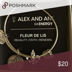 Alex and Ani Fleur De Lis Bracelet In great condition and comes with original card. Jewelry Bracelets