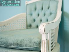Plaster Painted Vintage Chair