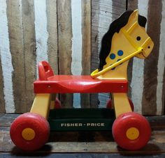 Vintage 1976 70's Fisher-Price Ride-On Horse Kids by UrsMineNours