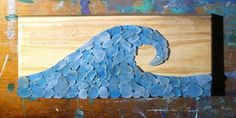 Sign of The Sea beach glass sea glass large ocean wave by SignsOf, $20.00