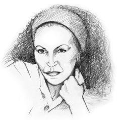 Abbildung aus dem Taschenbuch Schreibende Superfrauen von Ernst Probst - Zeichnung: Antje Püpke, Berlin, www.fixebilder.de