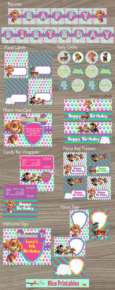 Paw Patrol Kit Paw Patrol Paw Patrol Birthday by NicePrintables