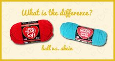 Learn to recognize the difference between balls and skeins of yarn, and how to find the end of each.