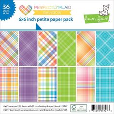 Perfectly Plaid R... is new at Kat Scrappiness.com ! More info here:  http://www.katscrappiness.com/products/perfectly-plaid-rainbow-petite-paper-pack-6x6-by-lawn-fawn?utm_campaign=social_autopilot&utm_source=pin&utm_medium=pin