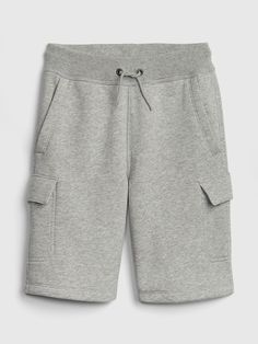 73acd8bd4d227e Gap Boys  Pull-On Cargo Shorts In French Terry Light Heather Gray Heather  Gray