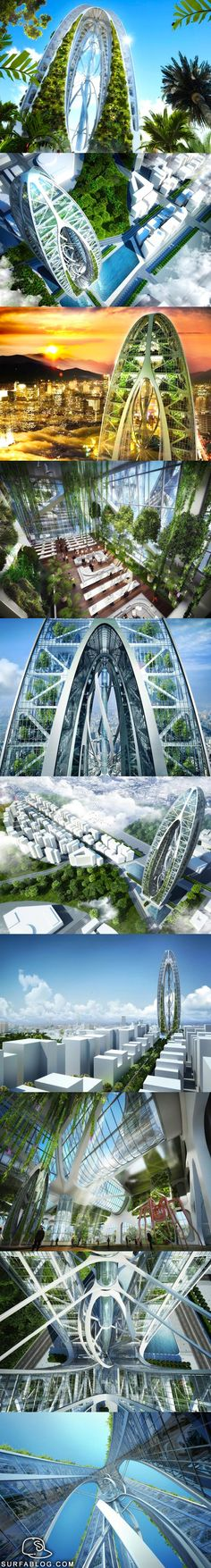 Vincent Callebaut Biotic Arch