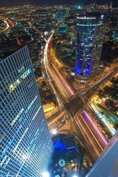 Tel-Aviv from the top of the Azraeli center - one of Israel's tallest buildings.