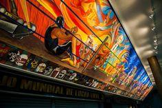 """Mural """" dos de tres caidas sin limite de tiempo """" Arena Mexico DF"""