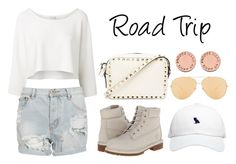 """Road Trip"" by anaelle2 ❤ liked on Polyvore featuring October's Very Own, Witchery, One Teaspoon, Timberland, Valentino, Linda Farrow Luxe and Marc by Marc Jacobs"