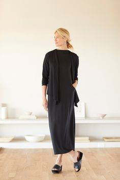 fc0f47c72d48 Layers are optional (featuring J.Jill's Pure Jill Luxe Tencel Mock-Neck Maxi