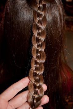 Five strand braid http://instagram.com/sparklysodastyle