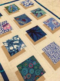 Why make one mini quilt when you can make six? It was fun adapting my Shadow Block Mini Quilt tutorial to make this set of colorful plac. Big Block Quilts, Strip Quilts, Easy Quilts, Mini Quilts, Modern Quilt Blocks, Crazy Quilt Blocks, Colchas Quilt, Applique Quilts, Patchwork Quilting