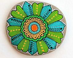 Jai Sassi Adriatique  Mandala de Pierre de peint à la main