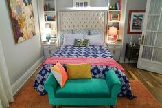 Name: Mindy Lahiri Location: New York, New York Closet Space: Doesn't want to talk about it This bright, playful apartment is home to Mindy Lahiri of Hulu's The Mindy Project, but it's no blah set piece. This season, Dr. Lahiri's spacious 1-bedroom just d
