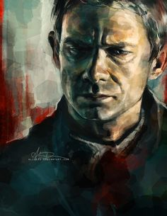 This is the most gorgeous painting of John/Martin ever.