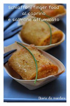 Schiaffoni o paccheri finger food al caprino e salmone affumicato – Storie da mordere