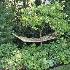 hammock hideaway in garden