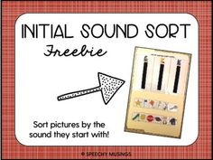 Initial Sound/Letter Sort File Folder Activity by Speechy Musings File Folder Activities, File Folder Games, File Folders, Initial Sounds, Letter Sounds, Speech Language Pathology, Speech And Language, Phonological Awareness Activities, Phonological Processes