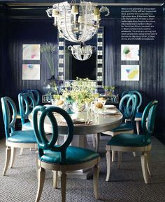 A Lille Chandelier Hangs In A Dining Room Designed By Kemble Interiors.