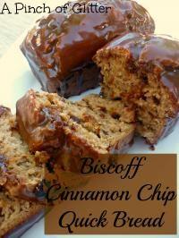 Biscoff Cinnamon Chip Quick Bread on MyRecipeMagic.com. So delicious with the Biscoff taste!