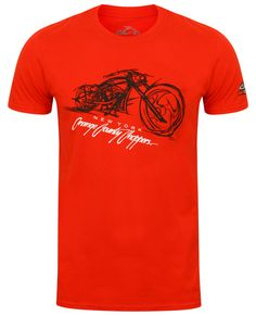 9e8ccecb9 Bike Render OCC T-Shirt Front and Rear Print Orange County Choppers logo on  left
