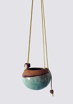 SHINO TAKEDA  Small Ceramic Hanging Vase