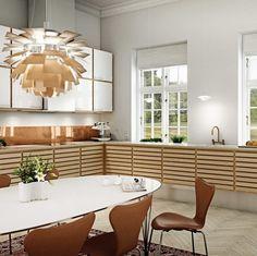 Oak kitchen | uno form's classic C-Range kitchen in oak