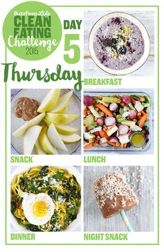 Take BuzzFeed's Clean Eating Challenge, Learn To Make Real Food (This challenge is great! It actually takes leftovers into account!)