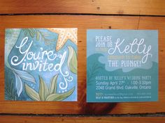 Under the Sea themed Bridal Shower Invitation - www.aliciasinfinity.com