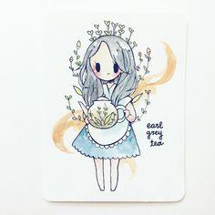 earl grey by popular request! london fogs are quite yummy c: Chibi Kawaii, Anime Chibi, Anime Art, Kawaii Drawings, Cute Drawings, Character Art, Character Design, Tape Art, Image Manga