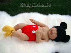 adorable knit Mickey photo prop