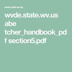 wvde.state.wv.us abe tcher_handbook_pdf section5.pdf