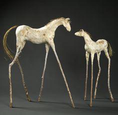 Artist of the Month: Sculptor Mindy Colton Paper Mache Sculpture, Horse Sculpture, Animal Sculptures, Clay Sculptures, Pottery Animals, Mixed Media Sculpture, Equine Art, Grafik Design, Horse Art