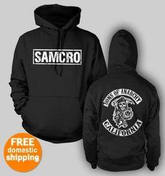Sons Of Anarchy Hoodie pullover SAMCRO Redwood CA hooded sweatshirt black hoody    $37.85 at TeesRus Bonanza