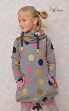 Pulloverkleid aus Sweat für Mädchen - Nähanleitung und Schittmuster via Makerist.de