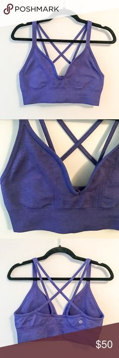 Lululemon training bra, size 8 Very nice sport bra from Lululemon, there is no size tag. I would guess its 8. Very good used condition. Non padded. lululemon athletica Tops