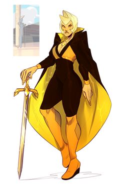 brideake:  i really wanted to draw a yellow diamond. this is 100% not what she looks like in canon i bet but it was fun to colour something of her anyway