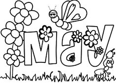 may flowers coloring pages 79 Best months images | Calendar, Diy christmas decorations  may flowers coloring pages