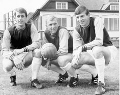Golden hat-trick: West Ham trio Geoff Hurst, Bobby Moore and Martin Peters were to play in another Wembley final in 1966... the World Cup final for England against West Germany. Moore was to captain his country to a 4-2 victory, with all the goals coming from his Hammers team-mates. Hurst is to this day the only player to have ever scored a hat-trick in a World Cup final. Peters scored England's other goal