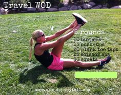 Travel WOD - bodyweight only, no equipment necessary #crossfit #wod