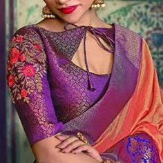 Embroidery Blouses, Embroidery Stitches, Hand Embroidery, Kalamkari Blouse Designs, Silk Saree Blouse Designs, Pattern Sewing, Neck Pattern, Peacock Embroidery Designs, Best Blouse Designs